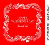 happy valentine's day ... | Shutterstock .eps vector #168505634