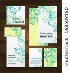 beautiful wedding invitation...   Shutterstock .eps vector #168509180