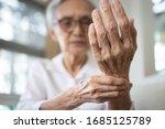 Elderly female patient suffer...