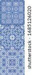 antique portuguese azulejo... | Shutterstock .eps vector #1685126020