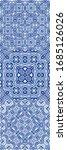 ceramic tiles azulejo portugal. ... | Shutterstock .eps vector #1685126026