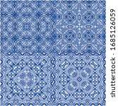 ceramic tiles azulejo portugal. ... | Shutterstock .eps vector #1685126059