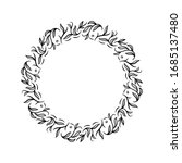 circle floral vintage draw... | Shutterstock .eps vector #1685137480