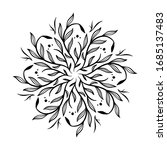 circle floral vintage draw... | Shutterstock .eps vector #1685137483