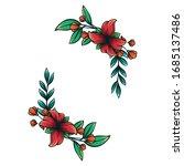 branch floral vintage draw... | Shutterstock .eps vector #1685137486