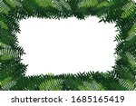 green leaf branches on white... | Shutterstock .eps vector #1685165419