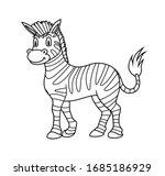 Cartoon Animal Zebra. Vector...
