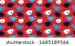 seamless pattern with different ... | Shutterstock .eps vector #1685189566