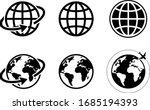 globe icon of web image set | Shutterstock .eps vector #1685194393