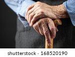 closeup of senior woman's hands ... | Shutterstock . vector #168520190