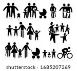 family with children  parents... | Shutterstock .eps vector #1685207269