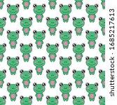 seamless pattern cute frog... | Shutterstock .eps vector #1685217613
