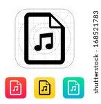 audio file icon. vector...