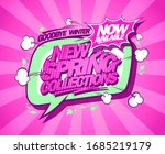 new spring collections banner... | Shutterstock . vector #1685219179