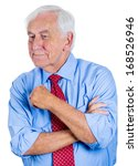 closeup portrait of a senior ... | Shutterstock . vector #168526946