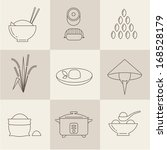 vector rice icons