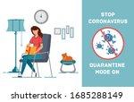 social distancing quarantine ... | Shutterstock .eps vector #1685288149