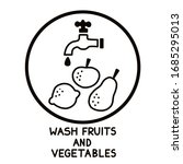 wash fruits and vegetables.... | Shutterstock .eps vector #1685295013