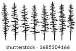 set of vector silhouettes of... | Shutterstock .eps vector #1685304166