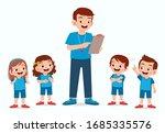 happy cute little kid boy and... | Shutterstock .eps vector #1685335576