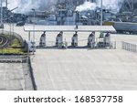 checkpoint machinery in the port | Shutterstock . vector #168537758