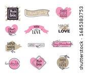 made with love handwritten... | Shutterstock .eps vector #1685383753