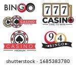 gambling casino club  poker and ... | Shutterstock .eps vector #1685383780