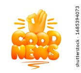 good news concept card. yellow...   Shutterstock .eps vector #1685394073