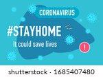 dangerous virus covid 19... | Shutterstock .eps vector #1685407480