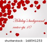 romantic background with rose... | Shutterstock .eps vector #168541253