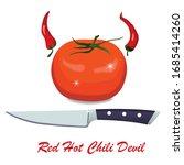 red hot chili devil. tomato... | Shutterstock .eps vector #1685414260