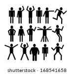 pictograms people man icon sign ... | Shutterstock .eps vector #168541658