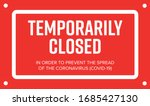 temporarily closed sign of... | Shutterstock .eps vector #1685427130