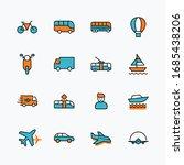 set of public transport related ... | Shutterstock .eps vector #1685438206