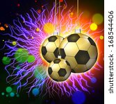 soccer holiday abstract lights... | Shutterstock . vector #168544406