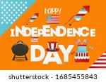 independence day greeting card. ... | Shutterstock . vector #1685455843