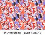 grunge free hand texture.... | Shutterstock . vector #1685468143