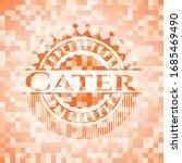 cater orange tile background...   Shutterstock .eps vector #1685469490