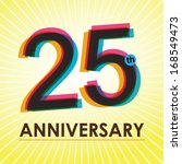 25th anniversary poster  ... | Shutterstock .eps vector #168549473