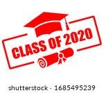 yearbook emblem class of 2020 ... | Shutterstock .eps vector #1685495239