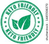 keto diet food vector stamp on... | Shutterstock .eps vector #1685508370