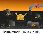 turkish lira sinks in petroleum.... | Shutterstock .eps vector #1685515483