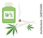 medical marijuana package and... | Shutterstock .eps vector #168553484