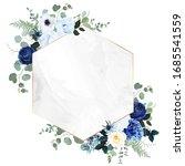 royal blue  navy garden rose ... | Shutterstock .eps vector #1685541559