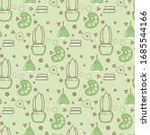seamless pattern with artist... | Shutterstock .eps vector #1685544166