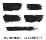 painted grunge stripes set.... | Shutterstock .eps vector #1685584849