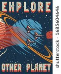 space research colorful vintage ...   Shutterstock .eps vector #1685604646
