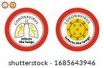 icon covid 19.. coronavirus... | Shutterstock .eps vector #1685643946
