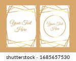 gold polygonal modern card with ... | Shutterstock .eps vector #1685657530