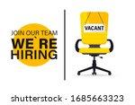 recruiting or hiring  open... | Shutterstock .eps vector #1685663323